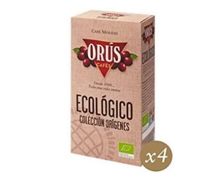 Cafe Molido Ecologico Cafes Orus 4 unidades de 250 gr