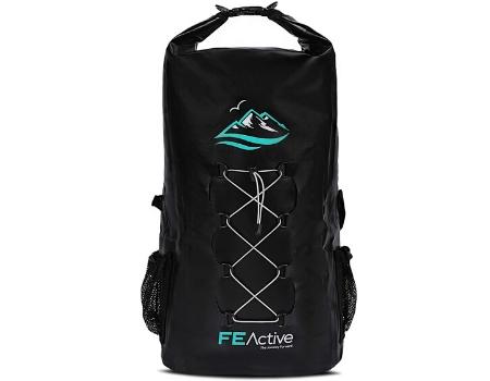 mochila ecologica negra impermeable 30L