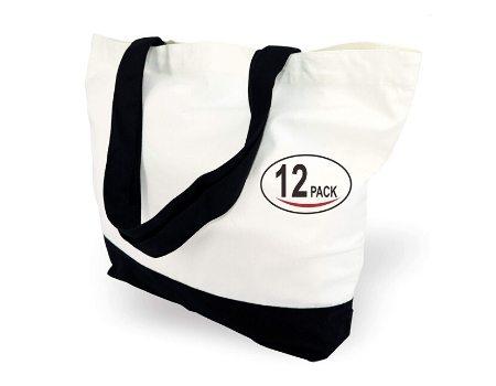bolsa ecologica lona algodon 12ud
