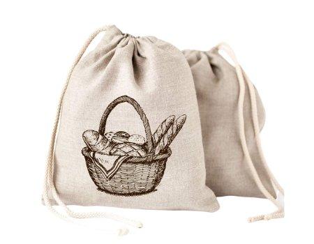 bolsa ecologica pan lino