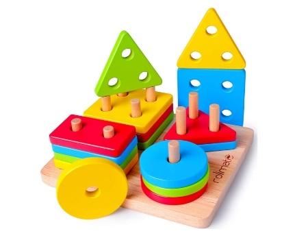 juguete ecologico geometrico