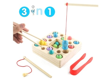 juguete ecologico pescar 3en1