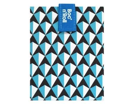 bolsa ecologica merienda azul negro