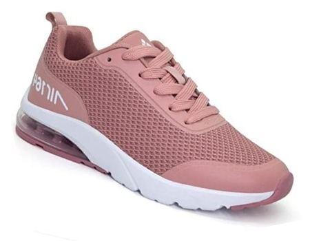 zapatilla ecologica mujer running rosado claro